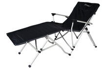 KingCamp Aluminium Lying Chair black with grey stripe